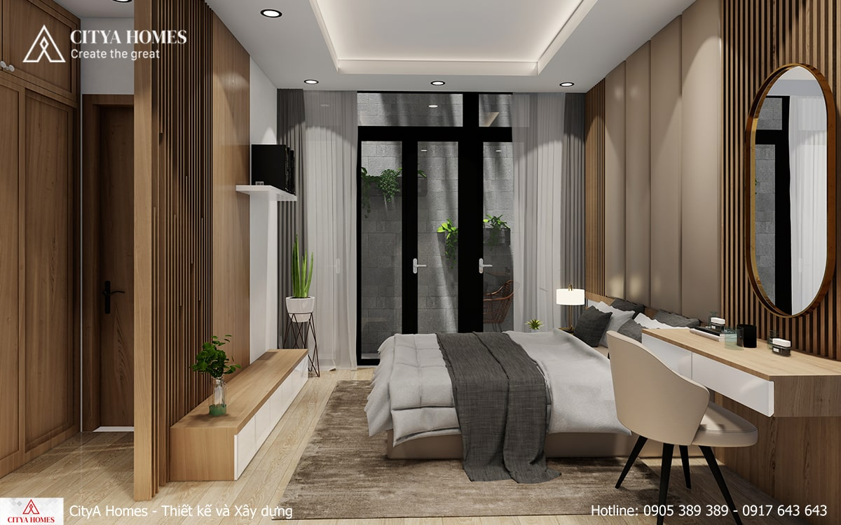 Phòng ngủ master với nội thất cao cấp, lý tưởng