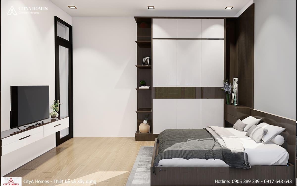Phòng ngủ phụ với gam màu đối lập nhau, tạo dấu ấn riêng cho căn phòng
