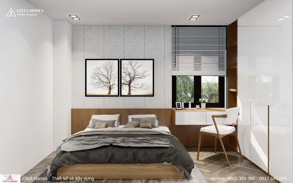 Phòng ngủ tách biệt với không gian bên ngoài