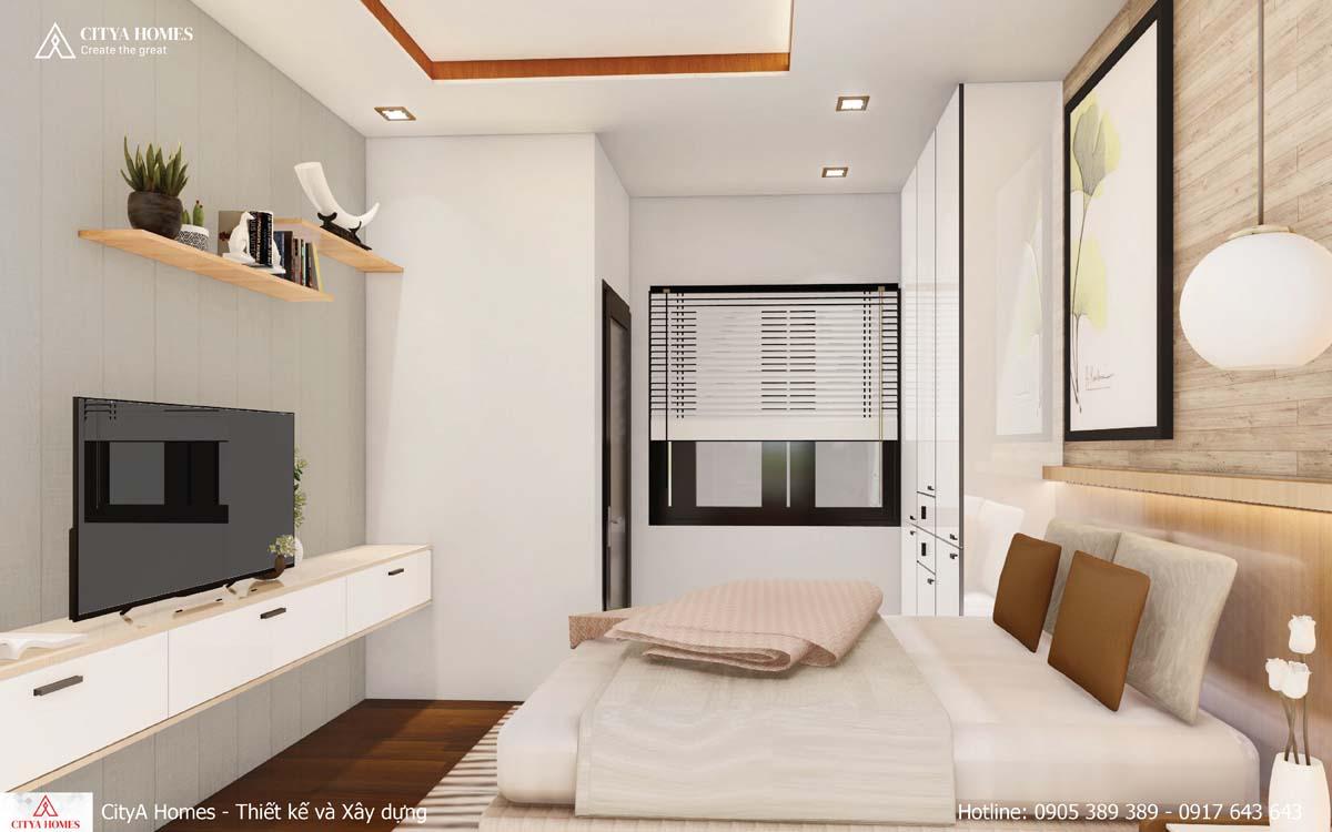 Phòng ngủ thiết kế tone trắng nhã nhặn, tinh tế