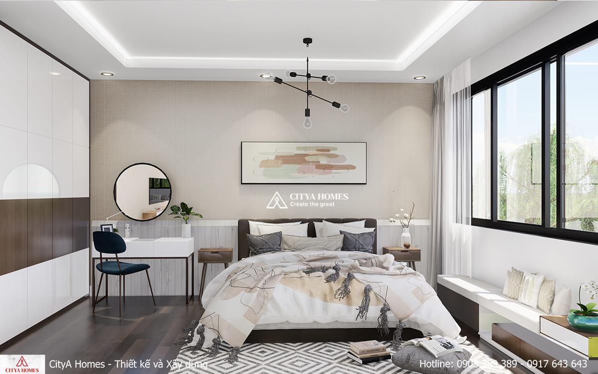 Phòng Ngủ Với Bộ Bàn Trang Điểm Đẹp Ấn Tượng