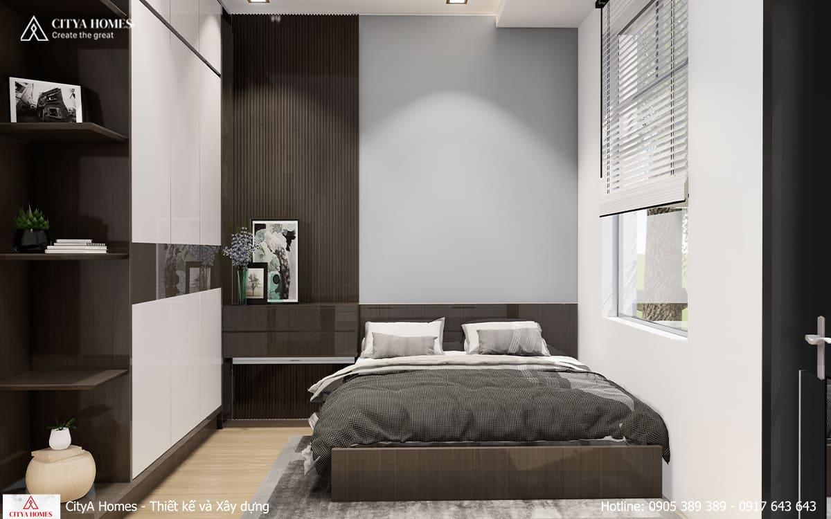 Phòng ngủ với lối bố trí thông minh trong không gian hẹp