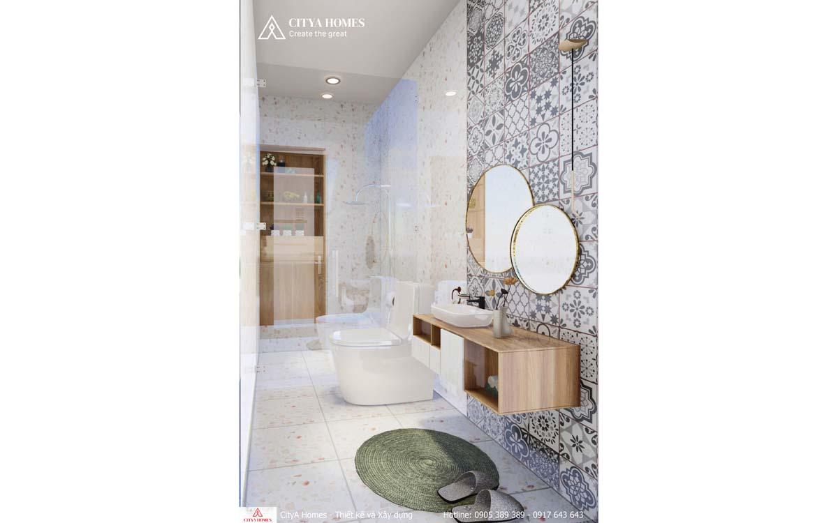 Phòng tắm được bố trí tiện nghi