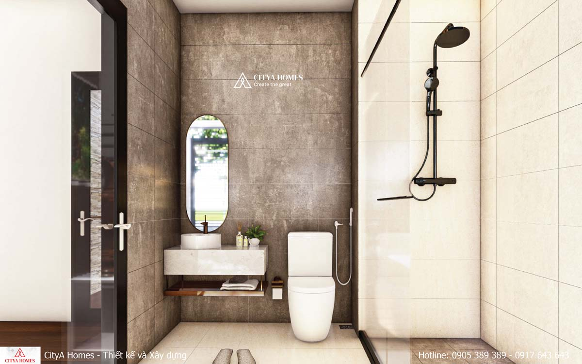 Phòng tắm được thiết kế tối ưu diện tích