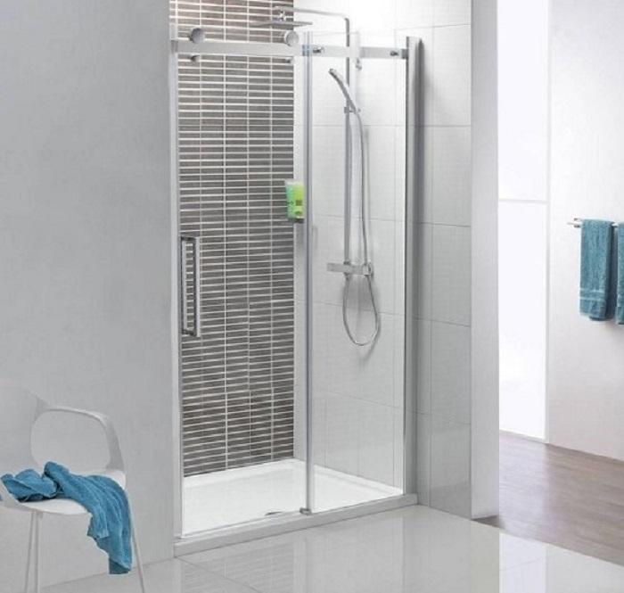 Phòng tắm kính đẹp cửa trượt