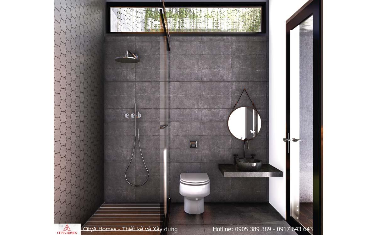 Phòng tắm với đá tổ ong kiểu mới