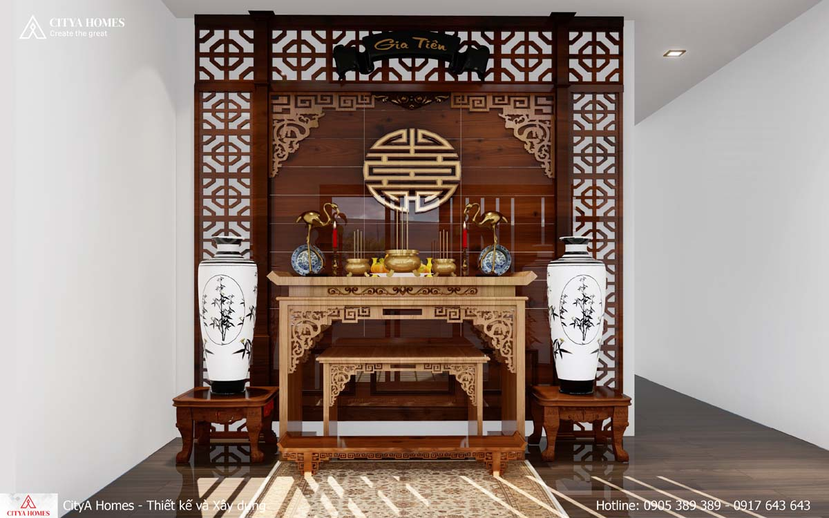 Phòng thờ thiết kế hợp phong thủy
