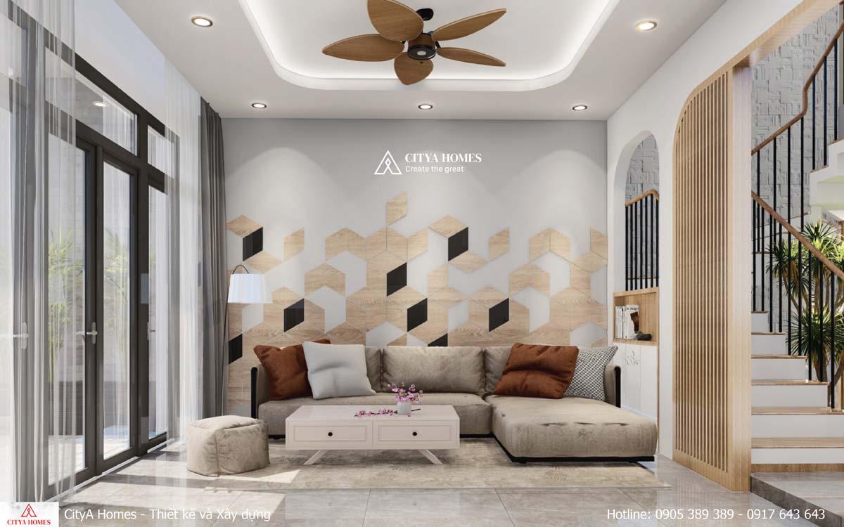 Thiết kế phòng khách đơn giản, hiện đại