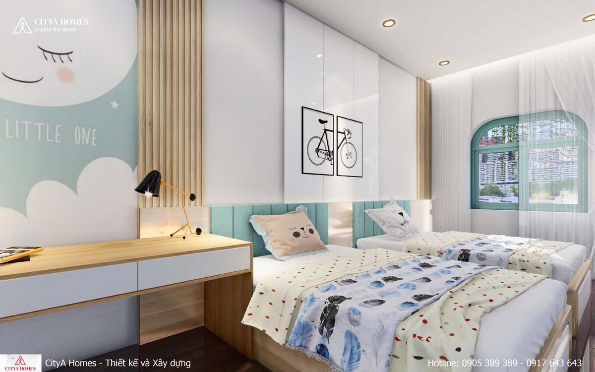 Thiết kế phòng ngủ dễ thương dành cho bé gái