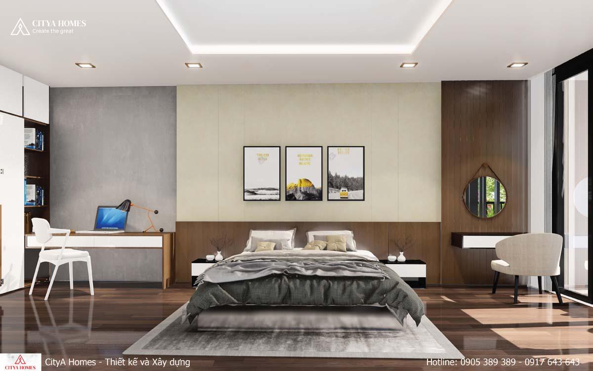 Thiết kế phòng ngủ rộng rãi