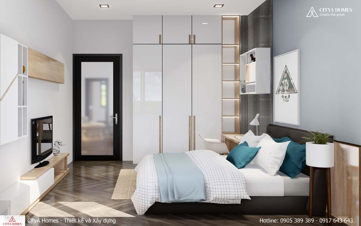 Thiết kế phòng ngủ tone màu nhã nhặn