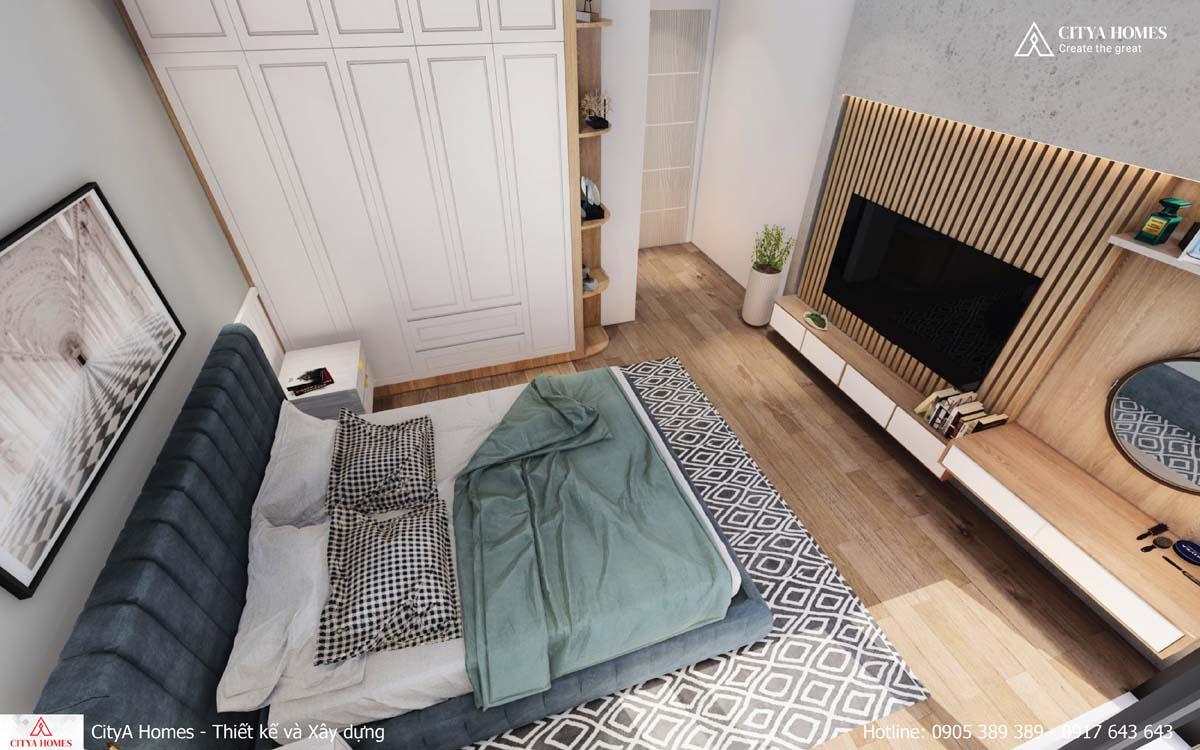 Thiết kế phòng ngủ tone màu trầm mang lại cảm giác thư giãn