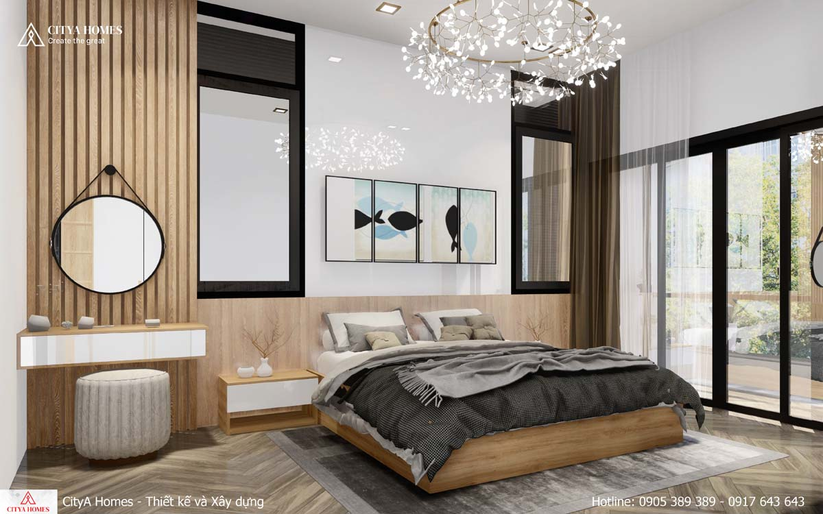 Toàn cảnh phòng ngủ master đậm chất thẩm mỹ Á Đông