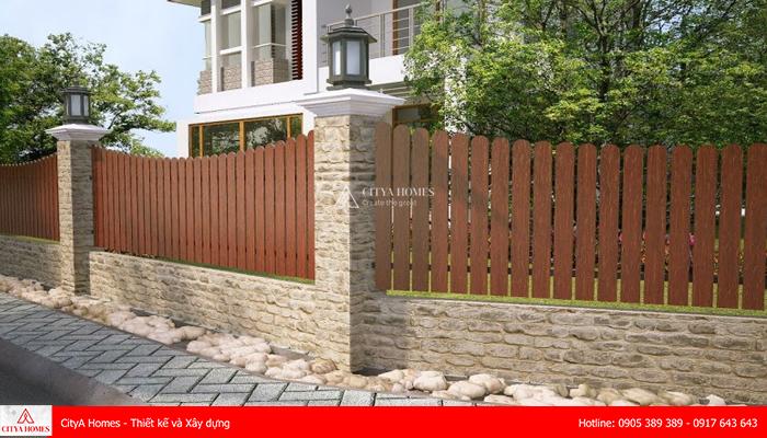 Mẫu cổng hàng rào đẹp phong cách Châu Âu