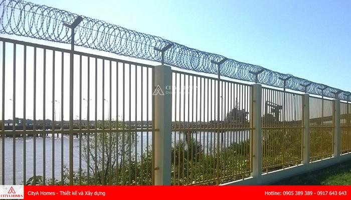 Mẫu hàng rào sắt chống trộm hiện đại