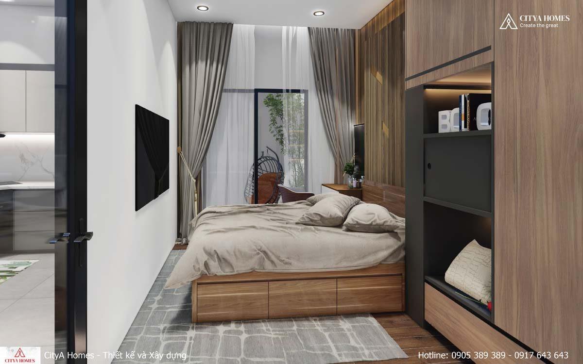 Diện Tích Phòng Ngủ được Cắt Giảm Nhằm Tạo Không Gian Chill Cho Chủ Nhà ở Bên Ngoài