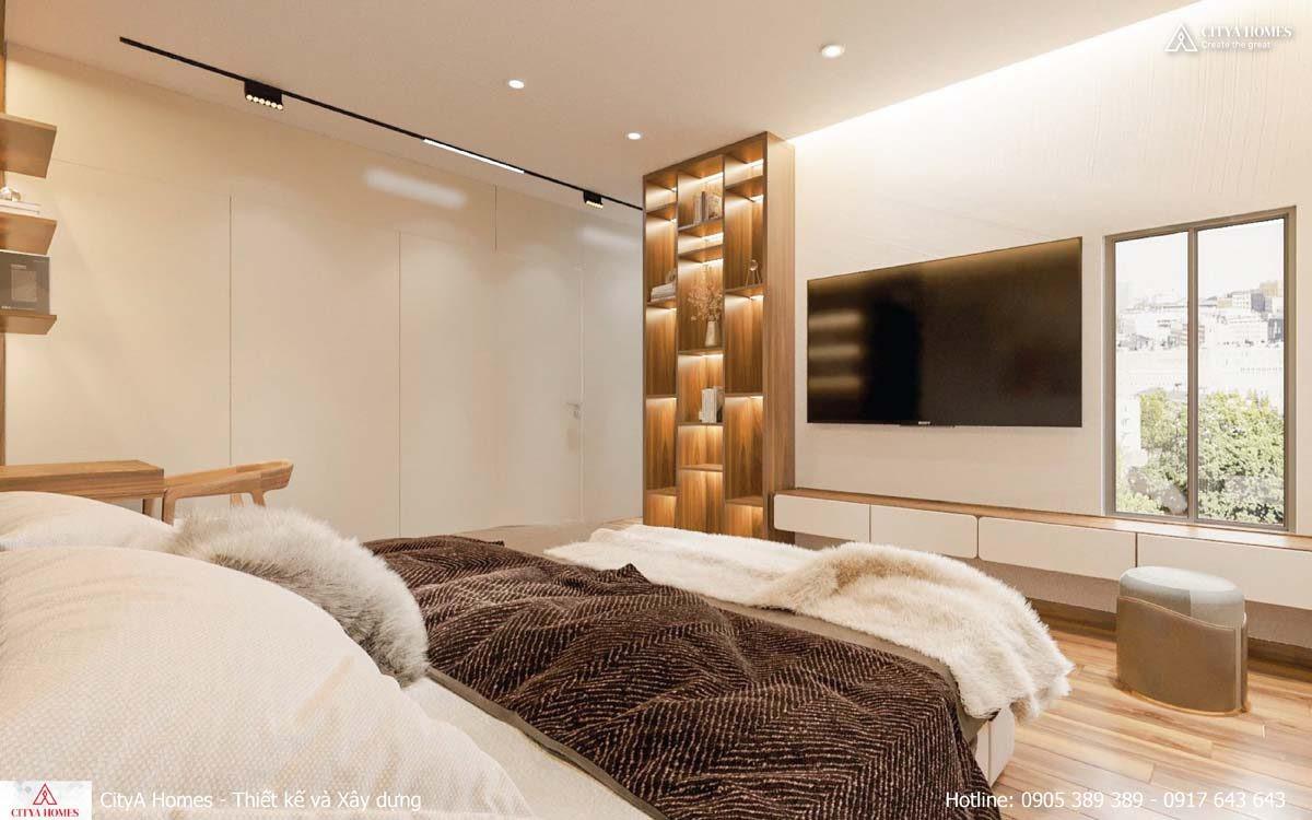 Tủ đựng Quần áo được Bố Trí âm Tường Làm Không Gian Phòng Ngủ Trở Nên Rộng Và Thoáng Hơn Bao Giờ Hết