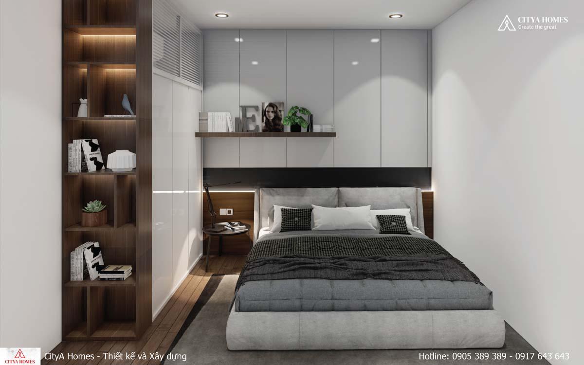 Bố cục nội thất trong phòng ngủ được sắp xếp hợp lý