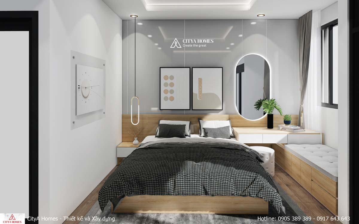 Không gian phòng ngủ riêng tư đem lại cảm giác yên bình, hài lòng cho gia chủ