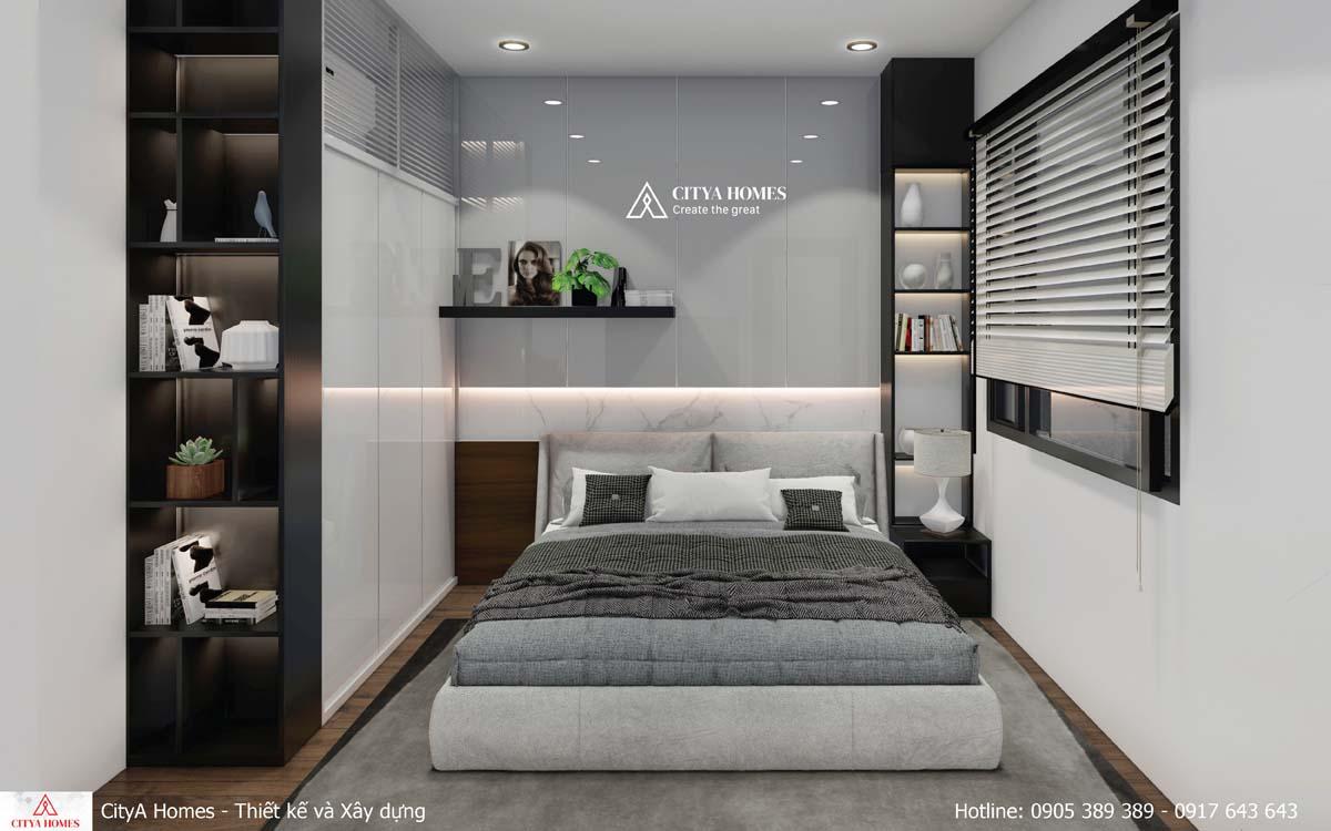 Mẫu thiết kế phòng ngủ nhỏ nhưng ấm áp, thư giãn_