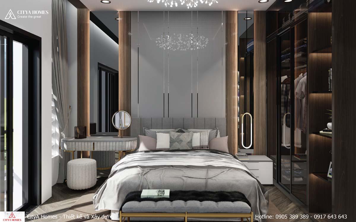 Ốp tường trong phòng ngủ master đem lại vẻ đẹp thu hút