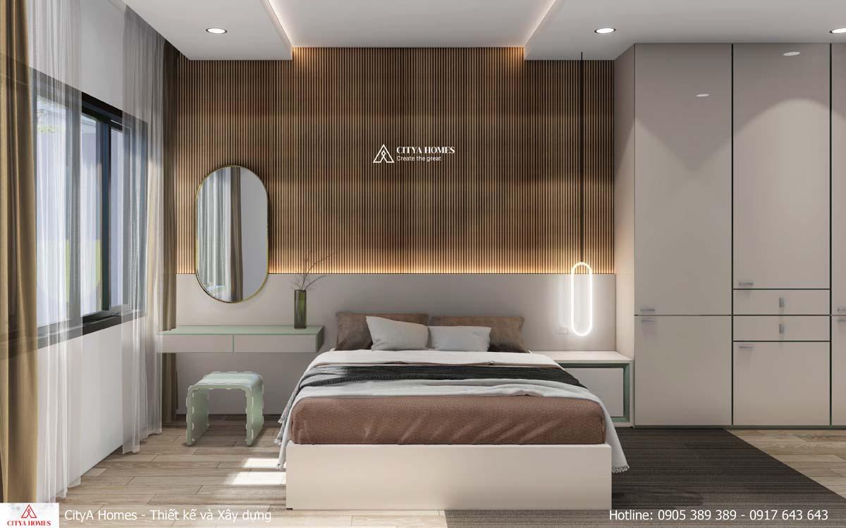 Phòng ngủ đẹp tiện nghi với cách phối màu nhẹ nhàng, êm ái