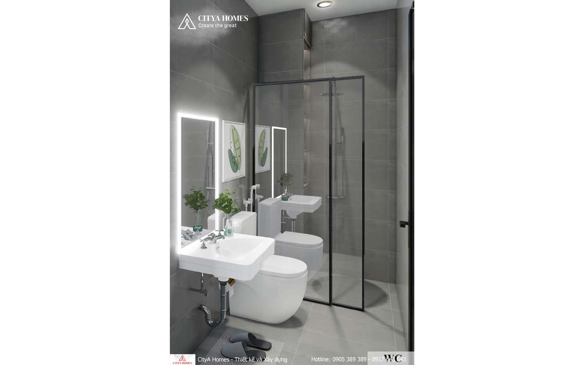 Phòng tắm bắt kịp xu hướng với gương chiếu sáng lung linh