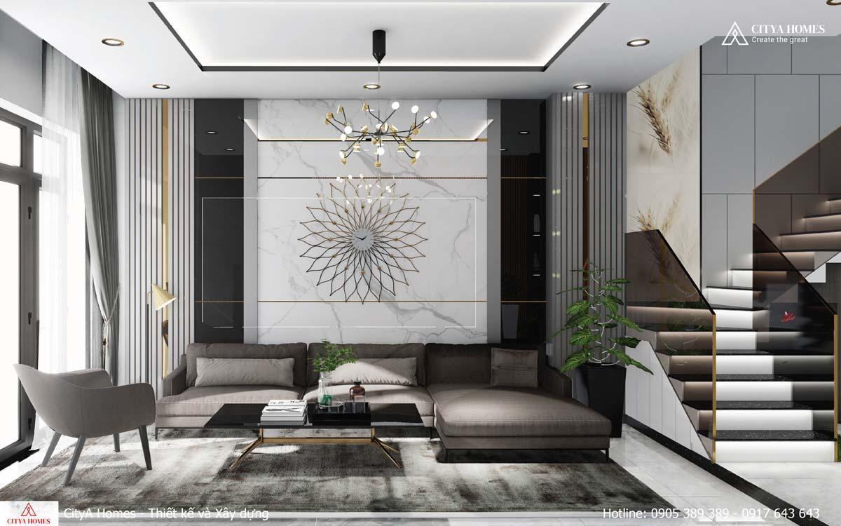 Sự sang trọng được thể hiện rõ ở trong từng chi tiết nội thất nhỏ của phòng khách này