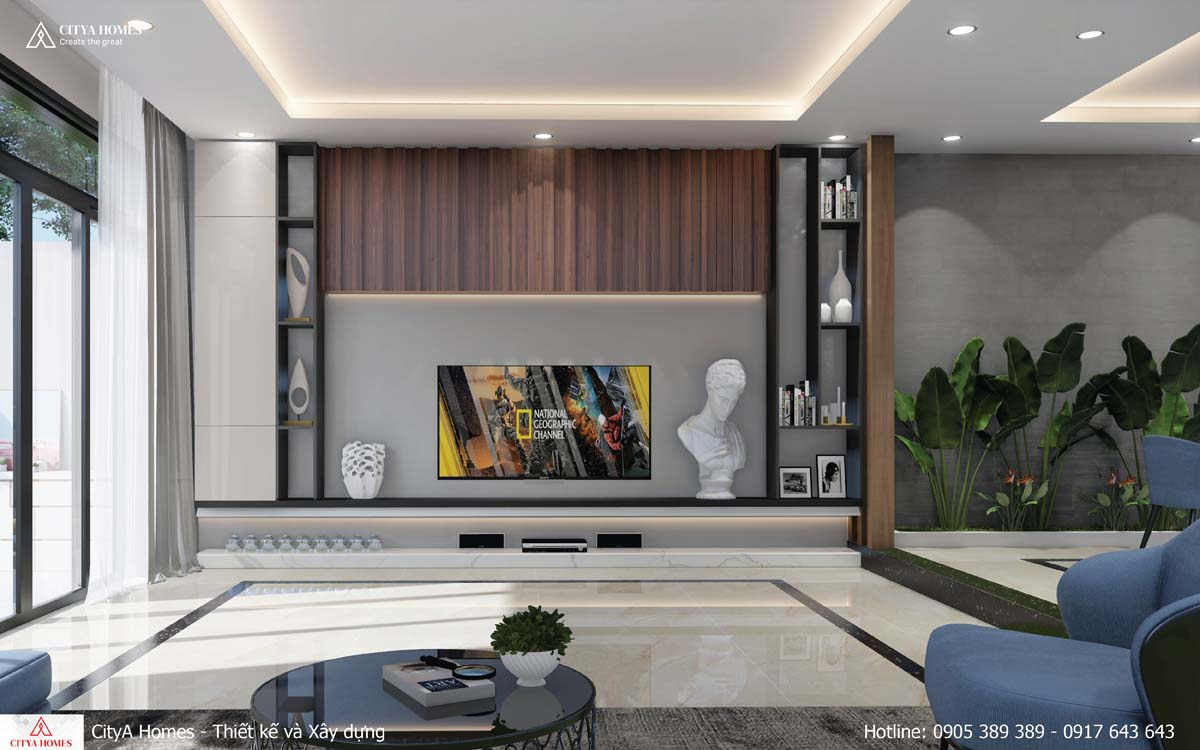 Thiết kế phòng khách hiện đại, mới mẻ