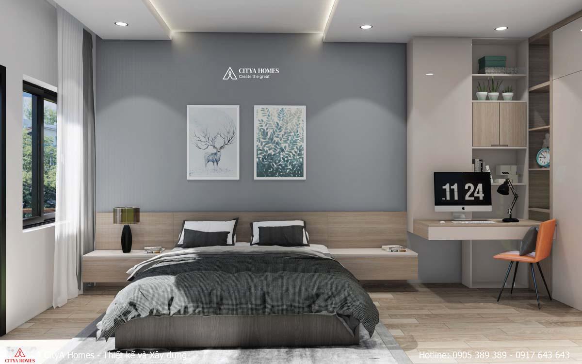 Tone màu trung tính được sử dụng cho căn phòng hiện đại