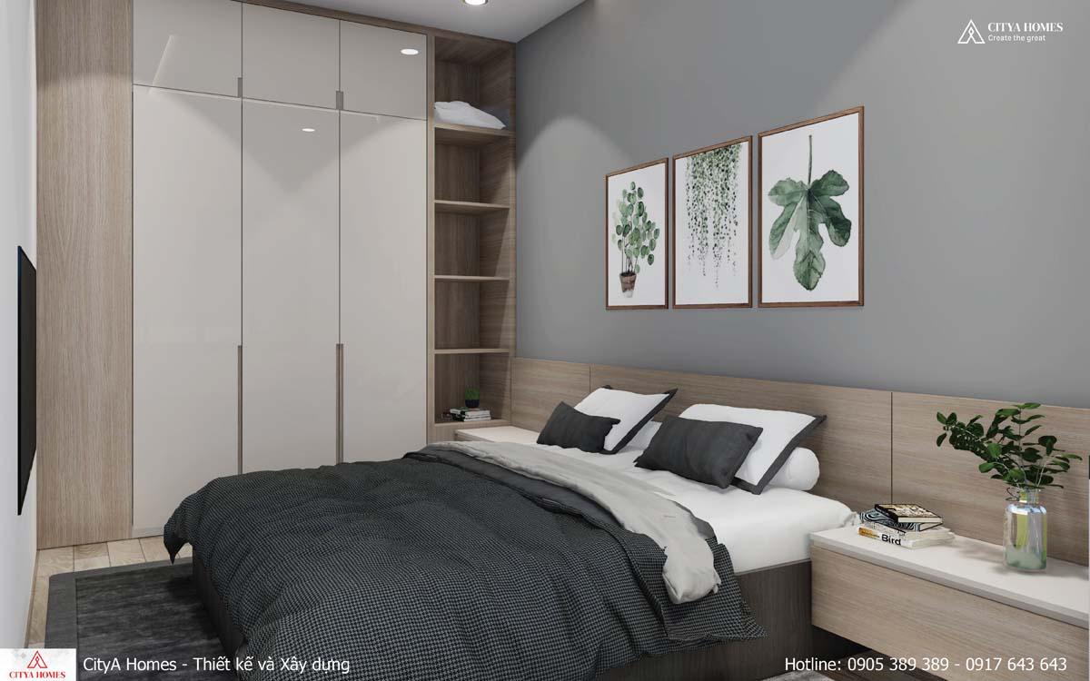 Tủ đựng quần áo với thiết kế chạm trần đẹp mắt
