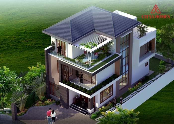 Nhà Mái Thái Kiến Trúc Hiện đại