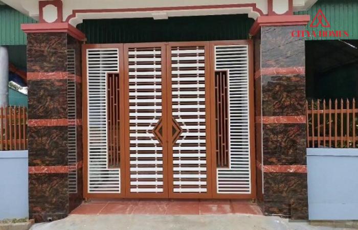 Mẫu Cổng Nhà 4 Cánh