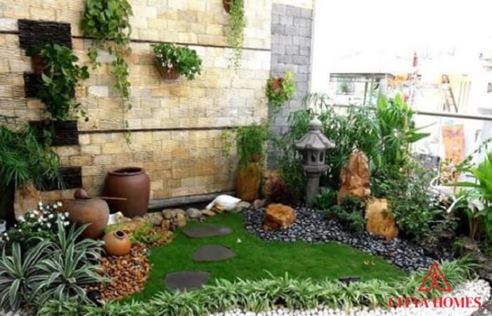 Mẫu Tiểu Cảnh Sân Vườn Phong Cách Làng Quê Việt