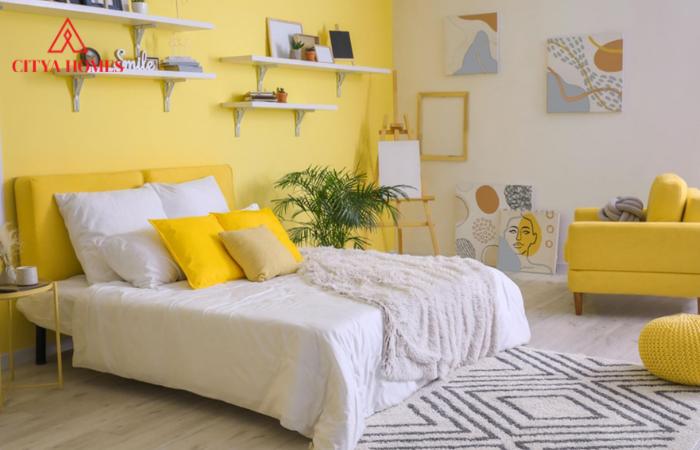 Màu Vàng Sơn Phòng Ngủ ấm áp