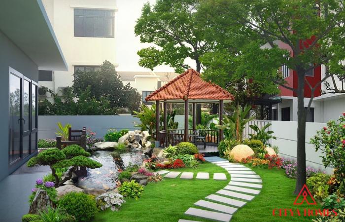 Tiểu Cảnh Sân Vườn Nhà Vườn