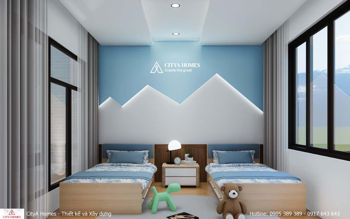 Phòng Ngủ 2 Giường đơn Thiết Kế đèn Tường Lạ Mắt, Kích Thích Sáng Tạo Của Trẻ Nhỏ
